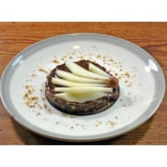 Tarte crue poire et chocolat