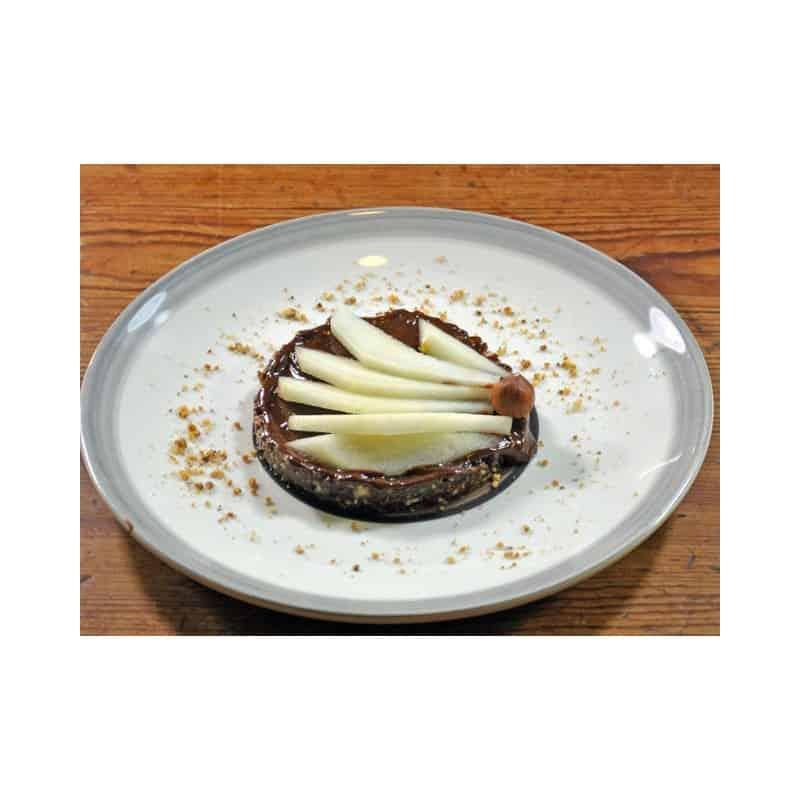 Tarte crue poire et chocolat temps de pr paration 10 mn les recettes sans gluten - Tarte poire chocolat sans oeuf ...