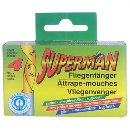attrape mouches en ruban superman x4 ecodis
