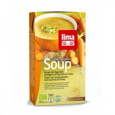 Soupe Légumes Potagers au Quinoa & Miso