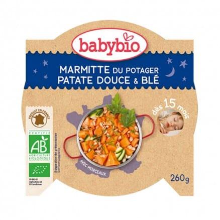 Marmitte du Potager, Patate Douce & Blé babybio