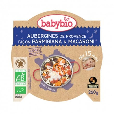 Aubergines de Provence façon Parmigiana & Macaroni babybio
