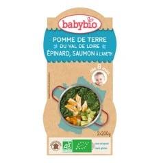 Bol Menu du Jour Pomme de Terre du Val de Loire, Epinard, Saumon à l'Aneth babybio