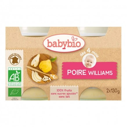 Petit pot bio Poire williams