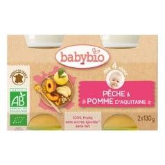 Petit pot bio Pêche et Pomme babybio