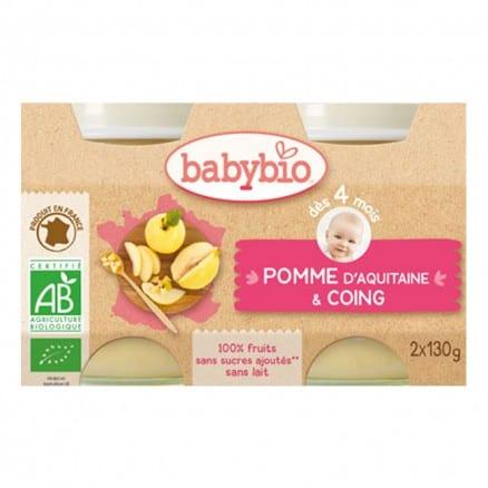 Petit pot bio Pomme et coing babybio