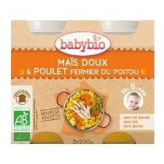 Petit pot Menu Maïs Doux & Poulet fermier Babybio