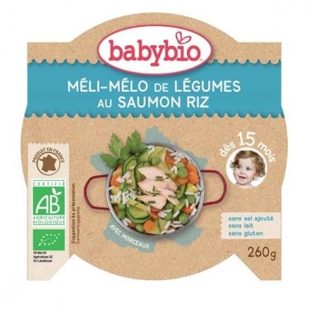 Assiette Méli-mélo de Légumes au Saumon Riz