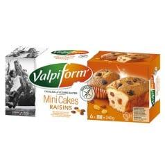 Mini cake raisins sans gluten