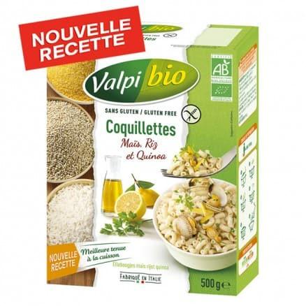 Coquillettes Maïs, Riz & Quinoa bio sans gluten