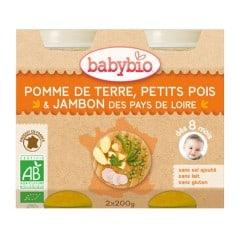 Petit pot bébé - Pomme de Terre, Petits Pois & Jambon des Pays de Loire 200g X2