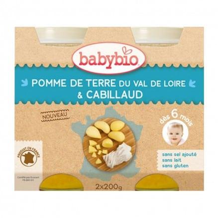 Petit pot bébé Pomme de Terre du Val de Loire & Cabillaud 2x200g