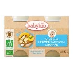 Petit pot bébé Douceur de Pomme d'Aquitaine & Banane 2X 130g