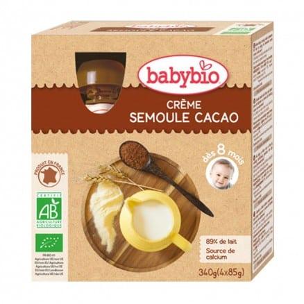 Gourdes pour bébé Crème Semoule Cacao 4x 85g