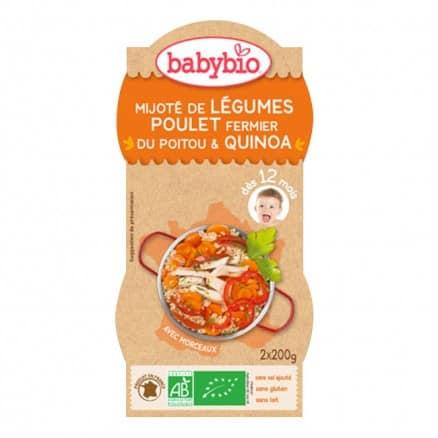Bols bébé Mijoté de Légumes Poulet fermier du Poitou & Quinoa 2x 200g