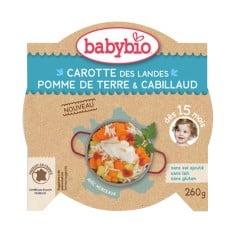 Assiette Bébé Carotte des Landes, Pomme de Terre & Cabillaud 260g