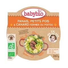 Assiette Bébé Panais, Petits Pois et Canard fermier du Poitou 260g
