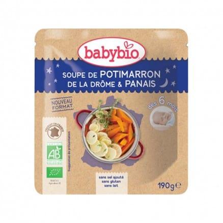Doypack bébé Soupe de Potimarron de la Drôme & Panais 190g