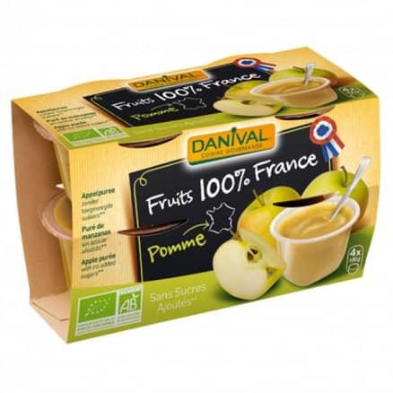 Purée 100% France Pomme 4 x 100g