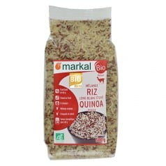 Mélange quinoa rouge riz long blanc bio de Markal