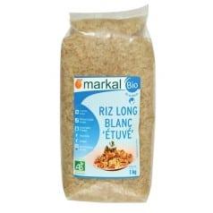 Riz long blanc étuvé bio Markal