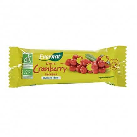 Barre de fruits cramberries Evernat