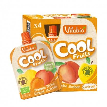 Cool fruits Pomme Pêche Abricot de vitabio