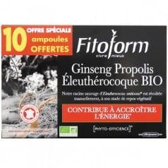 Ginseng Propolis Eleuthérocoque 20 ampoules + 10 offertes