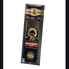 Chocolat Noir 70% Gingembre Confit