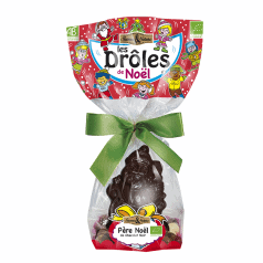 Père Noël Chocolat Noir & Crousty aux 3 chocolats
