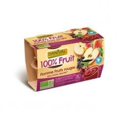Purée 100% Fruit Pomme Fruits Rouges