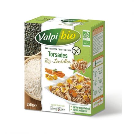 Torsades Riz Lentilles Sans Gluten