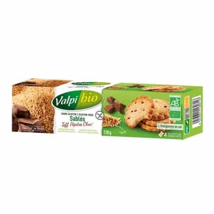 Sablés Teff & Pépites de Chocolat Sans Gluten