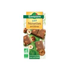 Chocolat lait Noisettes bio Bonneterre