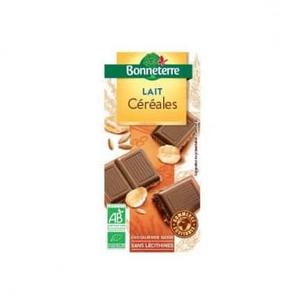 Chocolat lait céréales bio Bonneterre