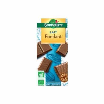 Chocolat au lait fondant bio Bonneterrre