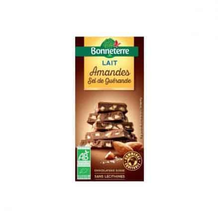 Chocolat au lait Amandes & sel de Guérande bonneterre