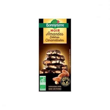Chocolat Noir Amandes entières Caramelisées de Bonneterre