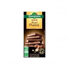 Chocolat noir fourré praliné