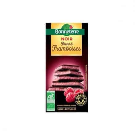 Chocolat noir fourré framboise Bonneterre