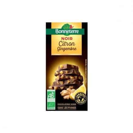 Chocolat Noir Citron et Gingembre de Bonneterre