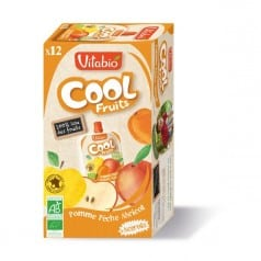 12 Gourdes Cool Fruits Pomme Pêche Abricot