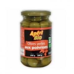 Olives Vertes aux Poivrons