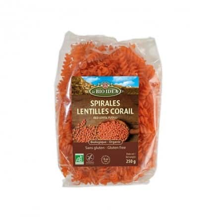 Spirales Lentilles Corail Sans Gluten