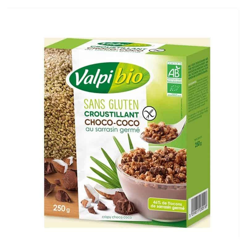ValpiBio Croustillant Choco Coco Sarrasin Germé Sans Gluten 250 g Croustillant... par LeGuide.com Publicité