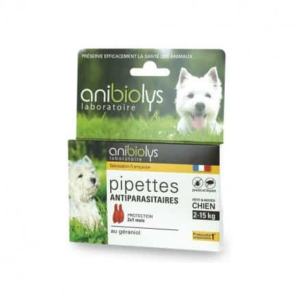 Pipettes Antiparasitaires Chien 2-15 kg