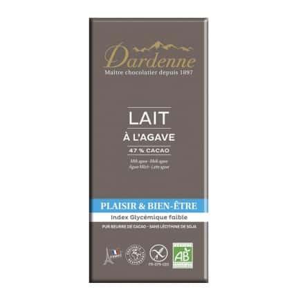 Chocolat Lait Agave 47% Sans Gluten