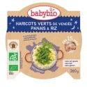 Assiette Haricots Verts de Vendée Panais & Riz