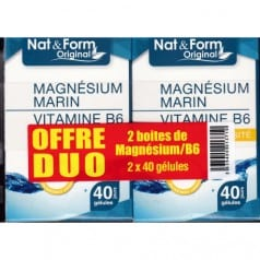 Duo Magnésium Marin + Vitamine B6 2 x 40 gélules