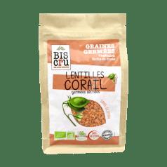 Graines Germées Lentilles Corail